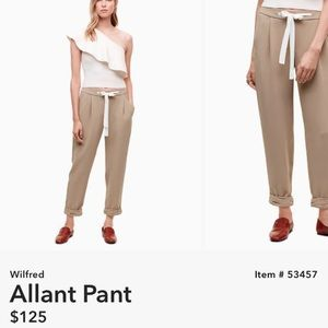 Wilfred Pants - Aritzia Wilfred Allant Pant